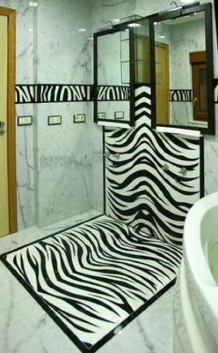 ванная Зебра